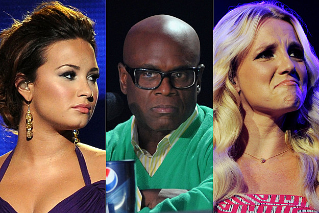 Demi Lovato, L.A. Reid, Britney Spears