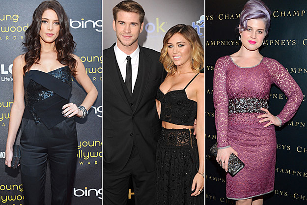 Ashley Greene Liam Hemsworth Miley Cyrus Kelly Osbourne