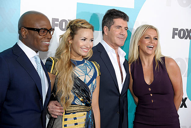 L.A. Reid, Demi Lovato, Simon Cowell, Britney Spears, The X Factor