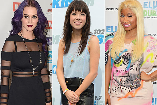 Katy Perry Carly Rae Jepsen Nicki Minaj