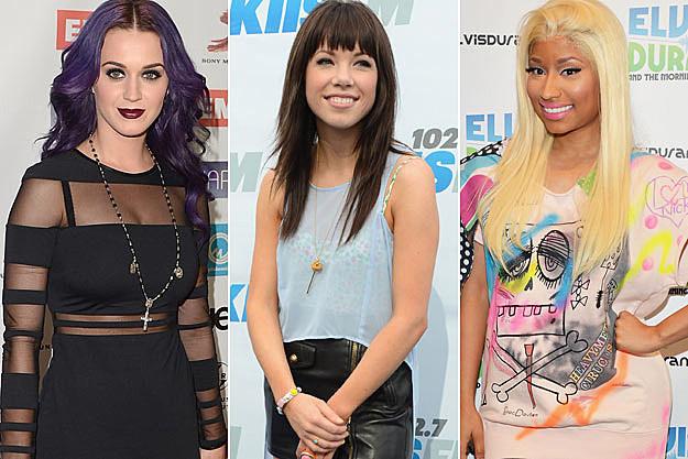 Katy Perry Carly Rae Jepsen Nicki Minaj