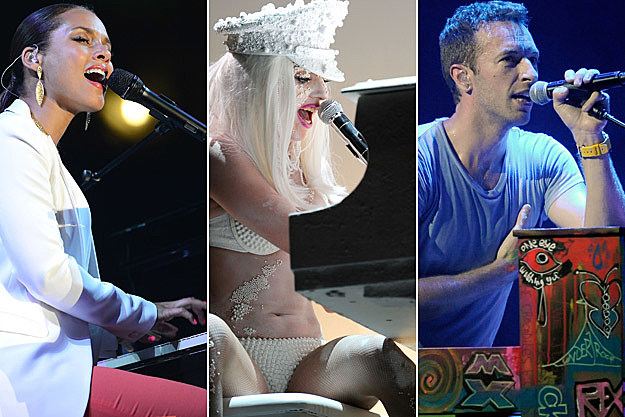 Alicia Keys Lady Gaga Chris Martin