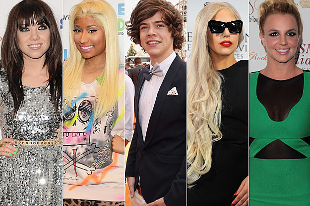 Carly Rae Jepsen Nicki Minaj Harry Styles Lady Gaga Britney Spears