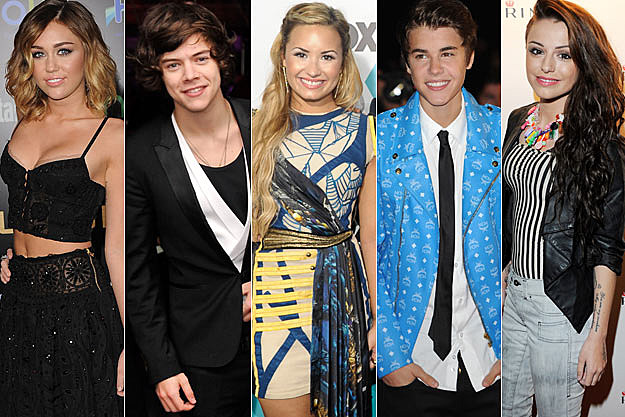 Miley Cyrus Harry Styles Demi Lovato Justin Bieber Cher Lloyd