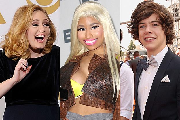 Adele / Nicki Minaj / One Direction