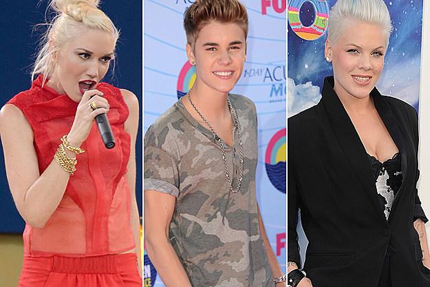 Gwen Stefani Justin Bieber Pink