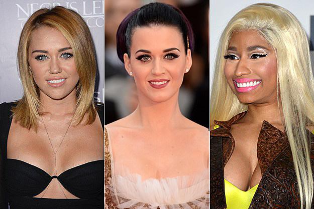 Miley Cyrus Katy Perry Nicki Minaj