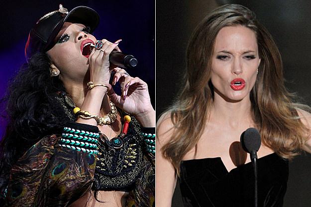 Rihanna Angelina Jolie
