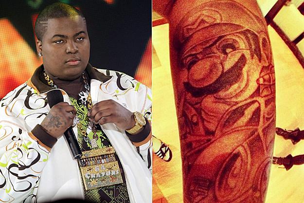 Sean Kingston Mario Kart tattoo