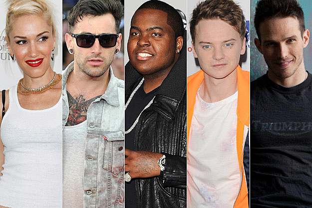 Gwen Stefani Hedley Sean Kingston Conor Maynard Chris Wallace