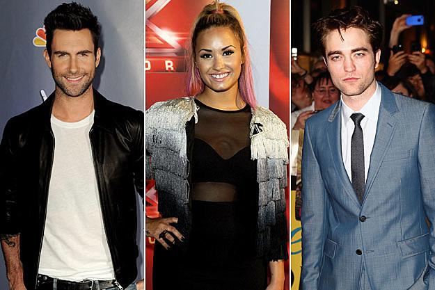 Adam Levine Demi Lovato Robert Pattinson