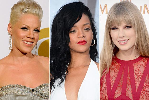 Pink Rihanna Taylor Swift