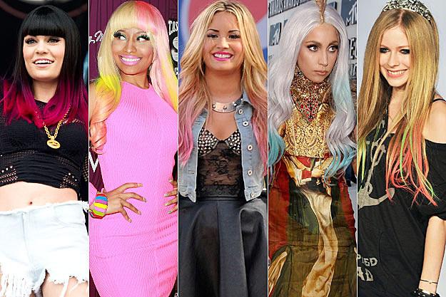 Jessie J Nicki Minaj Demi Lovato Lady Gaga Avril Lavigne