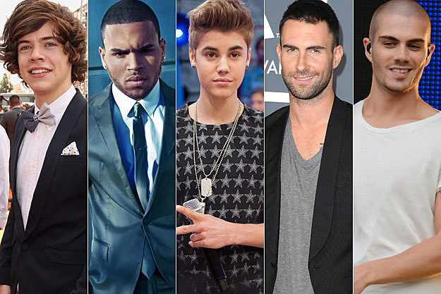 Harry Styles Chris Brown Justin Bieber Adam Levine Max George