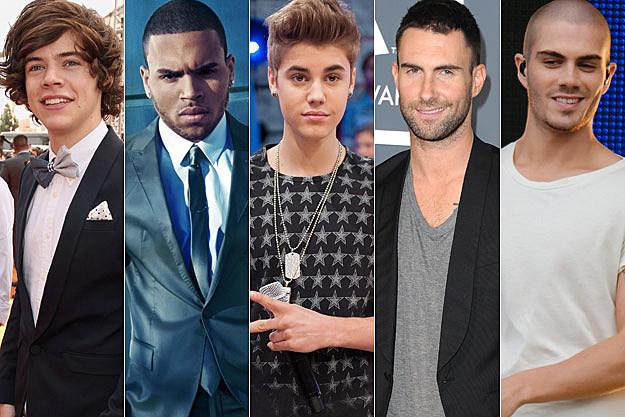 Harry Styles Chris Brown Justin Bieber Adam Levine Max George