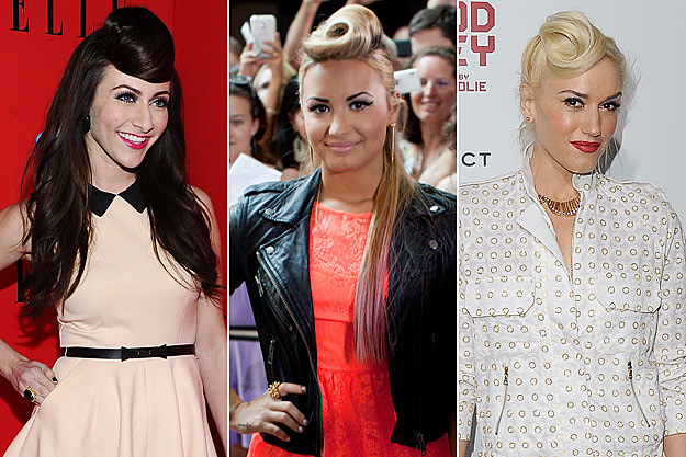 Amy Heidemann Karmin Demi Lovato Gwen Stefani