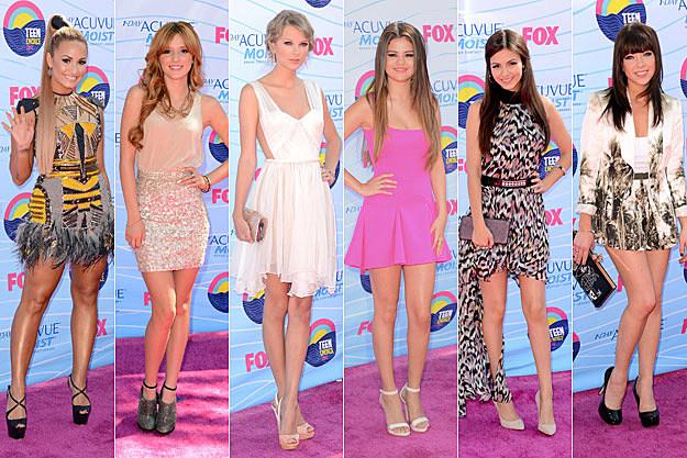 Demi Lovato Bella Thorne Taylor Swift Selena Gomez Victoria Justice Carly Rae Jepsen