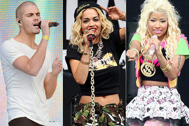 The Wanted Rita Ora Nicki Minaj