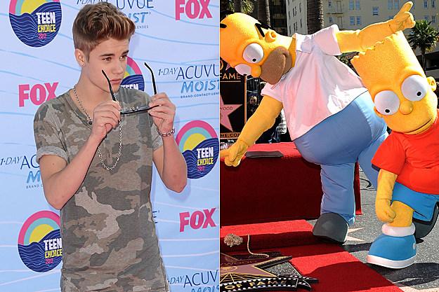 Justin Bieber Homer Bart Simpson