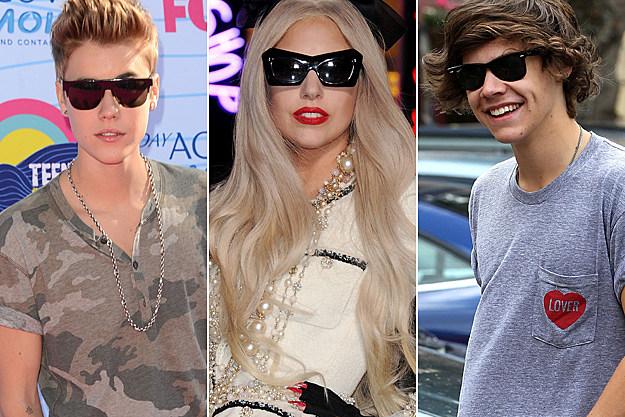 Justin Bieber Lady Gaga Harry Styles