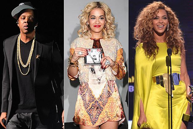 Jay-Z Rita Ora Beyonce