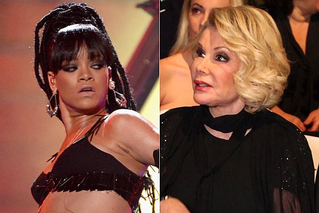 Rihanna Joan Rivers