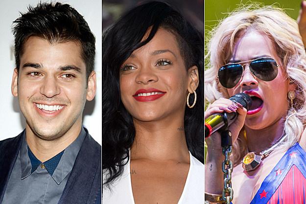 Rob Kardashian Rihanna Rita Ora