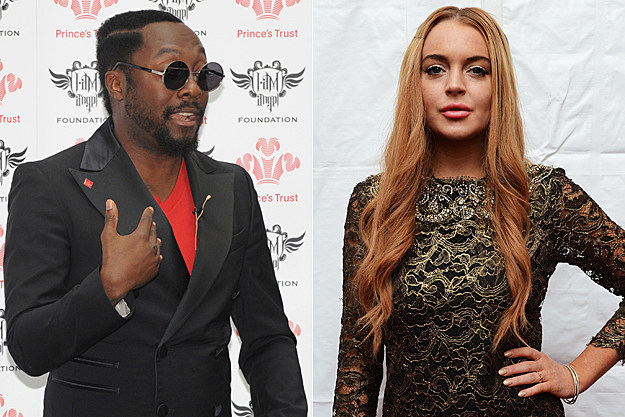 will.i.am Lindsay Lohan