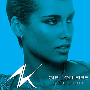 Alicia Keys Girl on Fire Blue Light