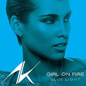 Alicia Keys Girl on Fire Blue Light