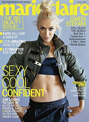 Gwen Stefani + Her Abs Cover Marie Claire