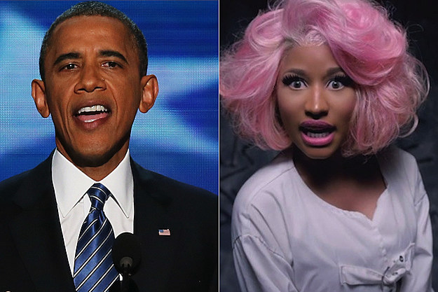 President Obama Nicki Minaj