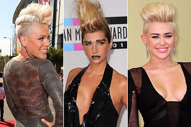 Pink Kesha Miley Cyrus Mohawk
