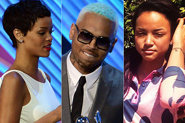 Rihanna Chris Brown Karrueche Tran