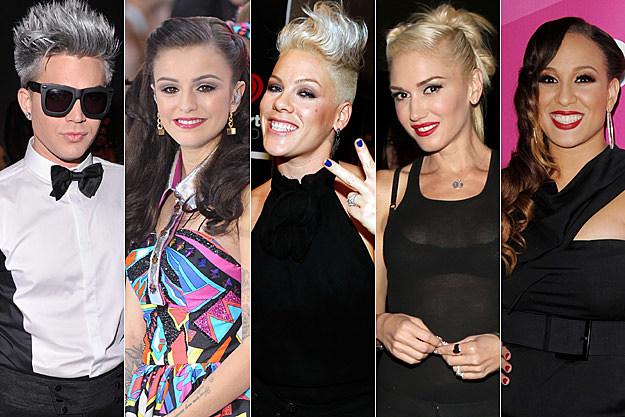 Adam Lambert Cher Lloyd Pink Gwen Stefani Melanie Amaro