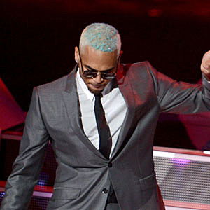Chris Brown Dyes His Hair Blue + More