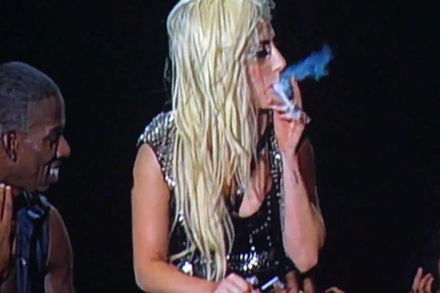 Lady Gaga smoking marijuana
