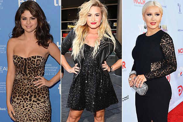 Selena Gomez Demi Lovato Christina Aguilera