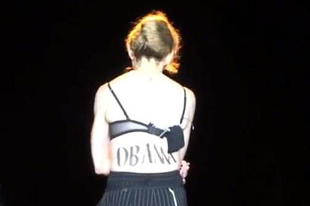 Madonna Obama tat