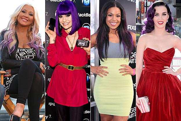 Christina Aguilera Jessie J Jordin Sparks Katy Perry
