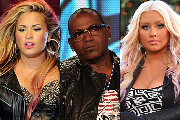 Demi Lovato Randy Jackson Christina Aguilera