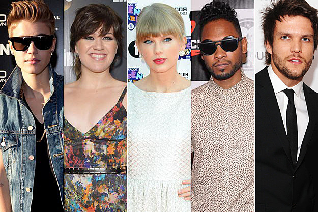 Justin Bieber Kelly Clarkson Taylor Swift Miguel Boys Like Girls