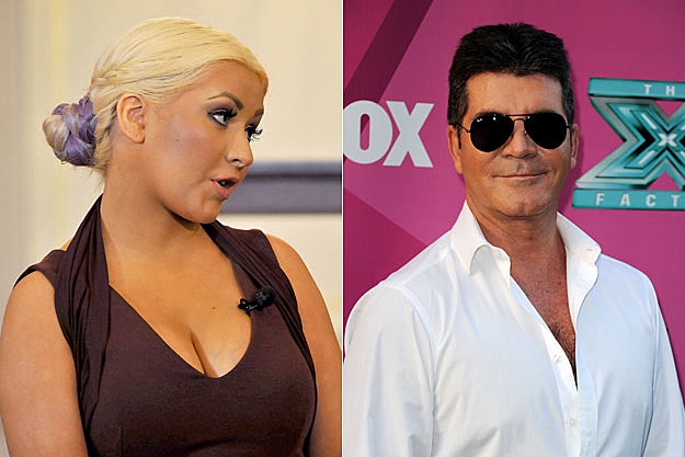 Christina Aguilera and Simon Cowell