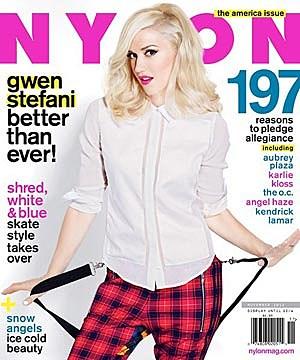 Gwen Stefani Nylon Cover