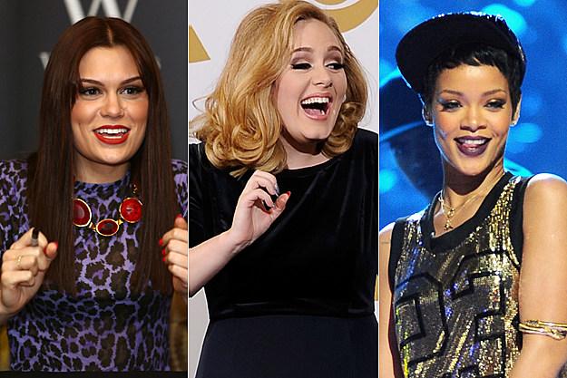 Jessie J Adele Rihanna