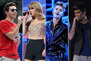 The Wanted Taylor Swift Justin Bieber One Direction Jingle Ball