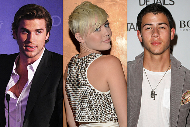 Liam Hemsworth Miley Cyrus Nick Jonas