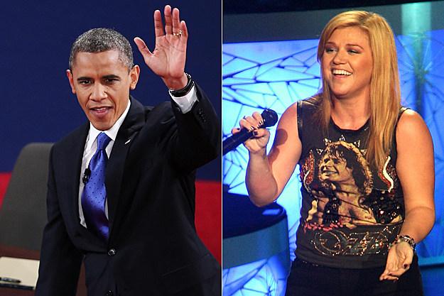 President Barack Obama Kelly Clarkson