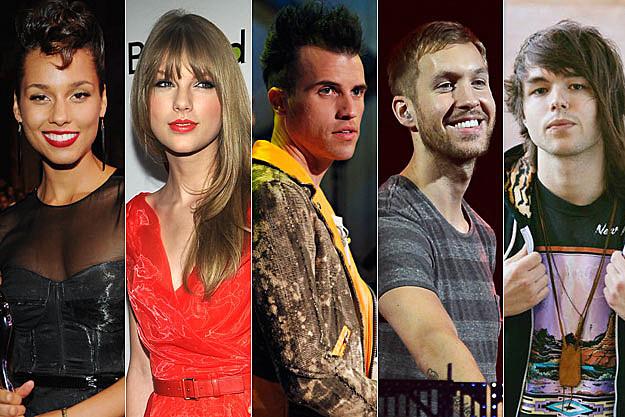 Alicia Keys Taylor Swift Tyler Glenn Calvin Harris Jordan Witzigreuter