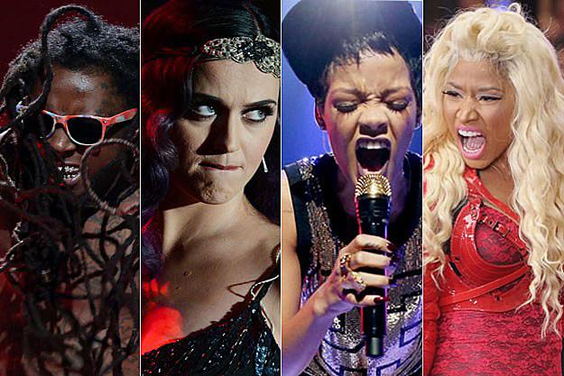 Lil Wayne Katy Perry Rihanna Nicki Minaj